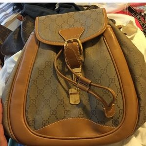 Gucci backpack outside great condition
